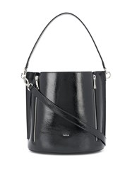 Furla Zip Details Tote Bag Black