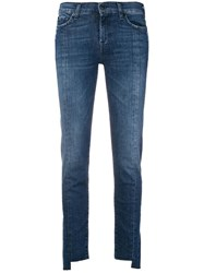 7 For All Mankind Roxanne Cropped Jeans Blue