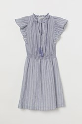 Handm H M Dress With Ruffles Blue