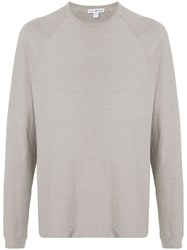 James Perse Crew Neck T Shirt Grey
