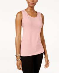 Jm Collection Jacquard Tank Top Only At Macy's Silver Pink