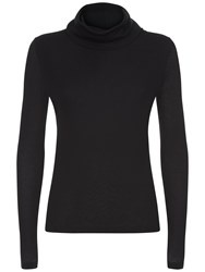 Jaeger Ribbed Roll Top Black