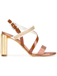 Christian Dior Beaded Strap Sandals Pink Purple
