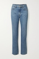 Gold Sign Goldsign Net Sustain Nineties Classic High Rise Straight Leg Jeans Mid Denim
