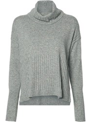 Derek Lam 10 Crosby Turtleneck Ribbed Jumper Grey
