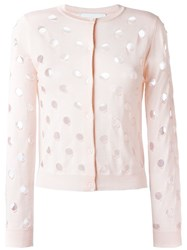 Simone Rocha Perforated Cardigan Pink And Purple
