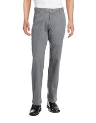 Dockers Washed Khaki Classic Fit Flat Front Pant Grey