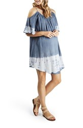 Topshop Women's Dip Dye Cold Shoulder Maternity Cover Up Dress