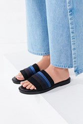 Urban Outfitters Drew Striped Slide Blue