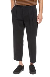 The Rail Pleated Crop Pants Black Rock
