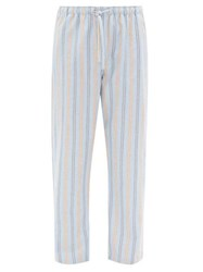 Derek Rose Striped Brushed Cotton Twill Pyjama Trousers Multi