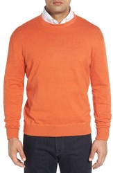 Robert Talbott Men's 'Jersey Sport' Cotton Blend Crewneck Sweater Ember