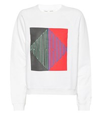 Proenza Schouler Printed Cotton Sweatshirt White