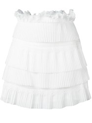 Iro Layered Pleated Skirt White
