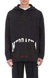 Off White C O Virgil Abloh Men's Nebraska Hoodie Black