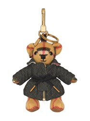 Burberry Thomas Bear Charm In Quilted Jacket Neutrals