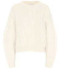 Stella Mccartney Cable Knit Sweater White