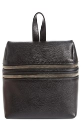 Kara Double Zipper Pebbled Leather Backpack