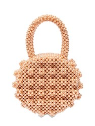 Shrimps Selena Round Beaded Top Handle Bag Apricot