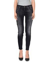 Twenty Easy By Kaos Denim Denim Trousers Women Black