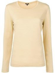 Aspesi Long Sleeved T Shirt Yellow