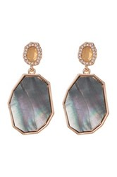 Vince Camuto Cz Double Drop Earrings Pink