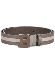 Bally Reversible Buckle Belt Men Cotton Leather 100 Brown