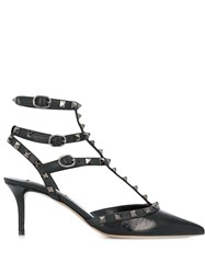 Valentino Garavani Rockstud Caged Pumps Black