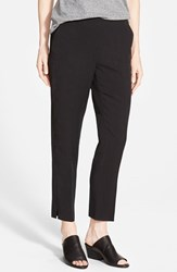 Women's Eileen Fisher Tapered Lightweight Twill Ankle Pants Black
