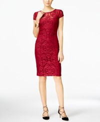 Inc International Concepts Patterned Mesh Sheath Dress Only At Macy's Wine