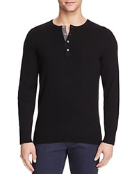 Vince Cashmere Henley Sweater Black