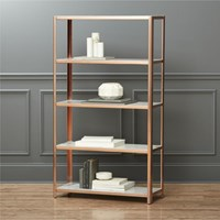 Cb2 Via Marble Bookcase