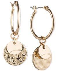 Lonna And Lilly Gold Tone Multi Disc Hoop Earrings