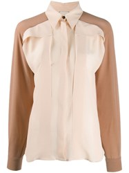 Alysi Long Sleeved Two Tone Shirt Neutrals