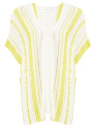 Sita Murt Open Knit Stripe Cardigan Unic Yellow