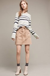 Anthropologie Pilcro Washed Chino Skirt Khaki