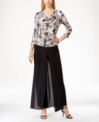 Msk Draped Printed Sequined Top