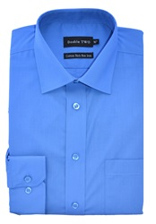 Double Two Long Sleeved Shirt Blue