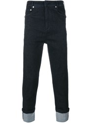 Neil Barrett Cuffed Jeans Blue