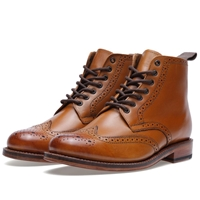 Grenson Sharp Brogue Boot Tan