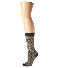 Wigwam Rorvik Charcoal Women's Crew Cut Socks Shoes Gray