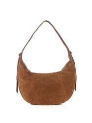 Elizabeth And James Zoe Fringed Suede Shoulder Bag Tan