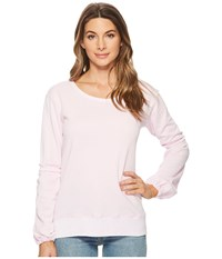 Allen Allen Lantern Sleeve Shirt With Ruffle Pink Lady Long Sleeve Pullover