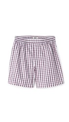Sleepy Jones Victor Windowpane Boxers White Red Blue
