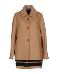 Femme By Michele Rossi Coats Camel