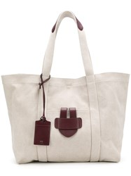 Tila March Leather Trim Tote Neutrals