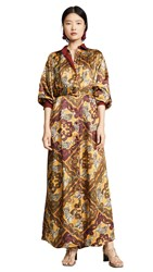 F.R.S For Restless Sleepers Collared Dress Tigre Rombo Giallo