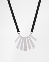 Whistles Resin Collar And Ribbon Necklace White
