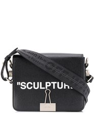 Off White 'Sculpture' Clip Detail Shoulder Bag Black