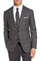 Men's Pal Zileri Classic Fit Plaid Wool Blend Sport Coat